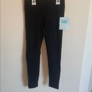 Athlete Girl black leggings size medium 8-10